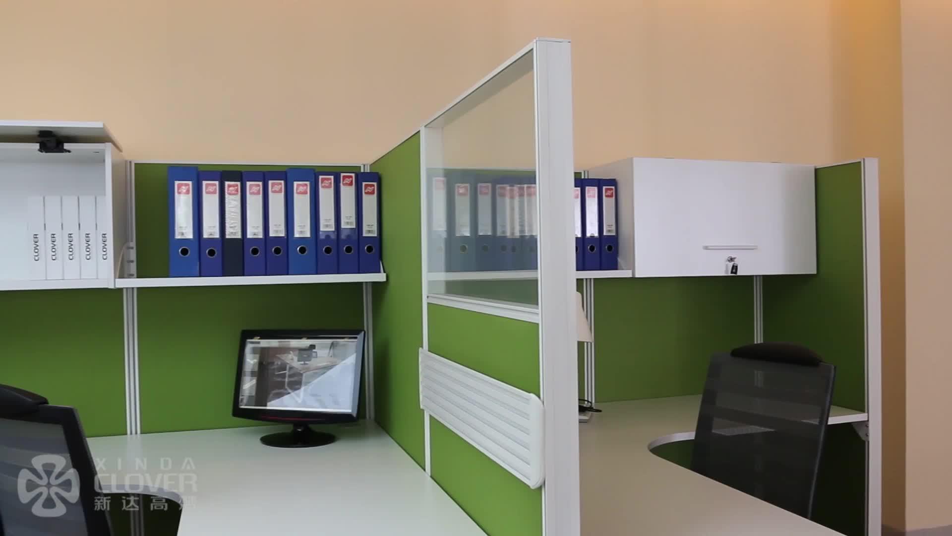 T8 120 grado Oficina 4 persona estación de trabajo de escritorio estación de trabajo de oficina cubículo