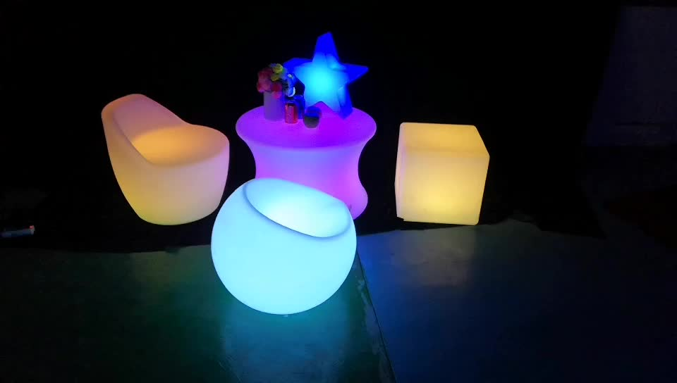 colour controlled by infrared remote battery operated RGB lighting leisure shopping mall waiting rest sofa