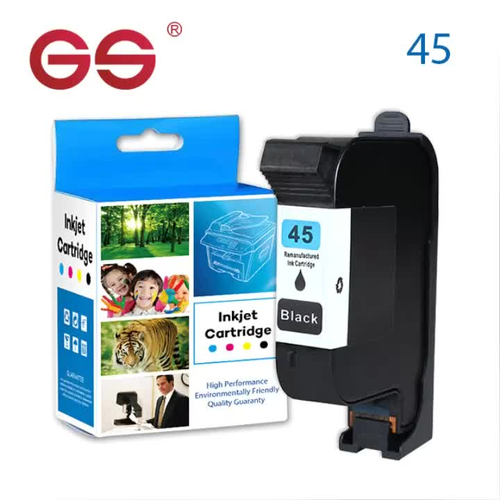 GS officejet 51645A 45 ink cartridges compatible for hp replacement