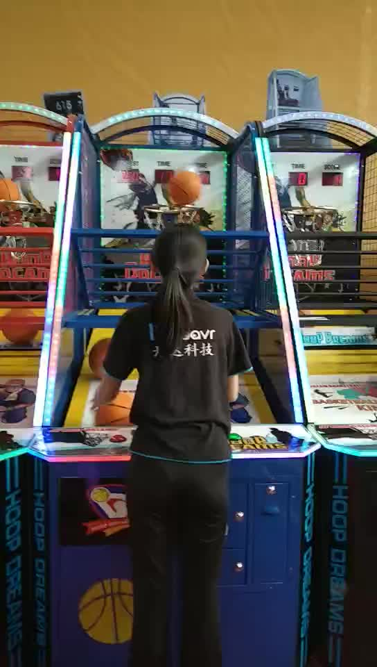 Factory wholesale electronic crazy hoop shooting basketball ticket arcade game machine for adult
