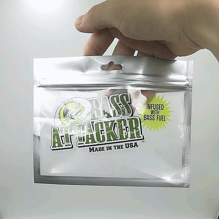 Colorful Printing Custom Soft Plastic Zipper Fish Lure Packaging Bag