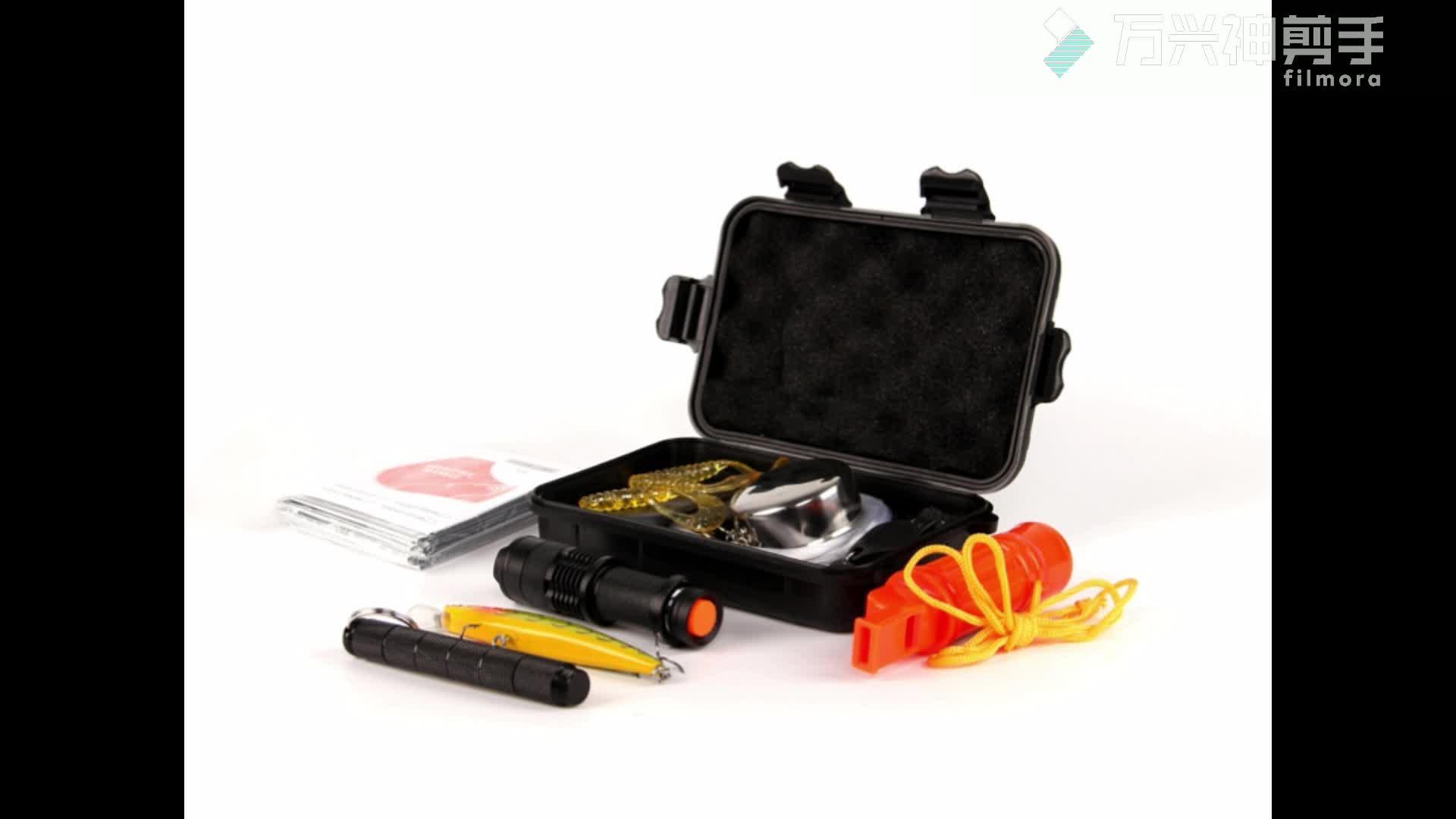 15 1 비상 생존 기어 키트, 고품질 가제트 생존 키트 시계, 화재 스타터 등