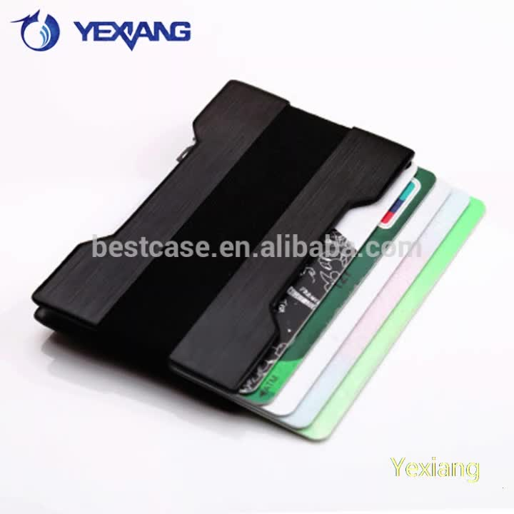New Product bank RFID Card Holder Aluminum Alloy Anti - Theft Brushed Effect Business Credit Card Holder
