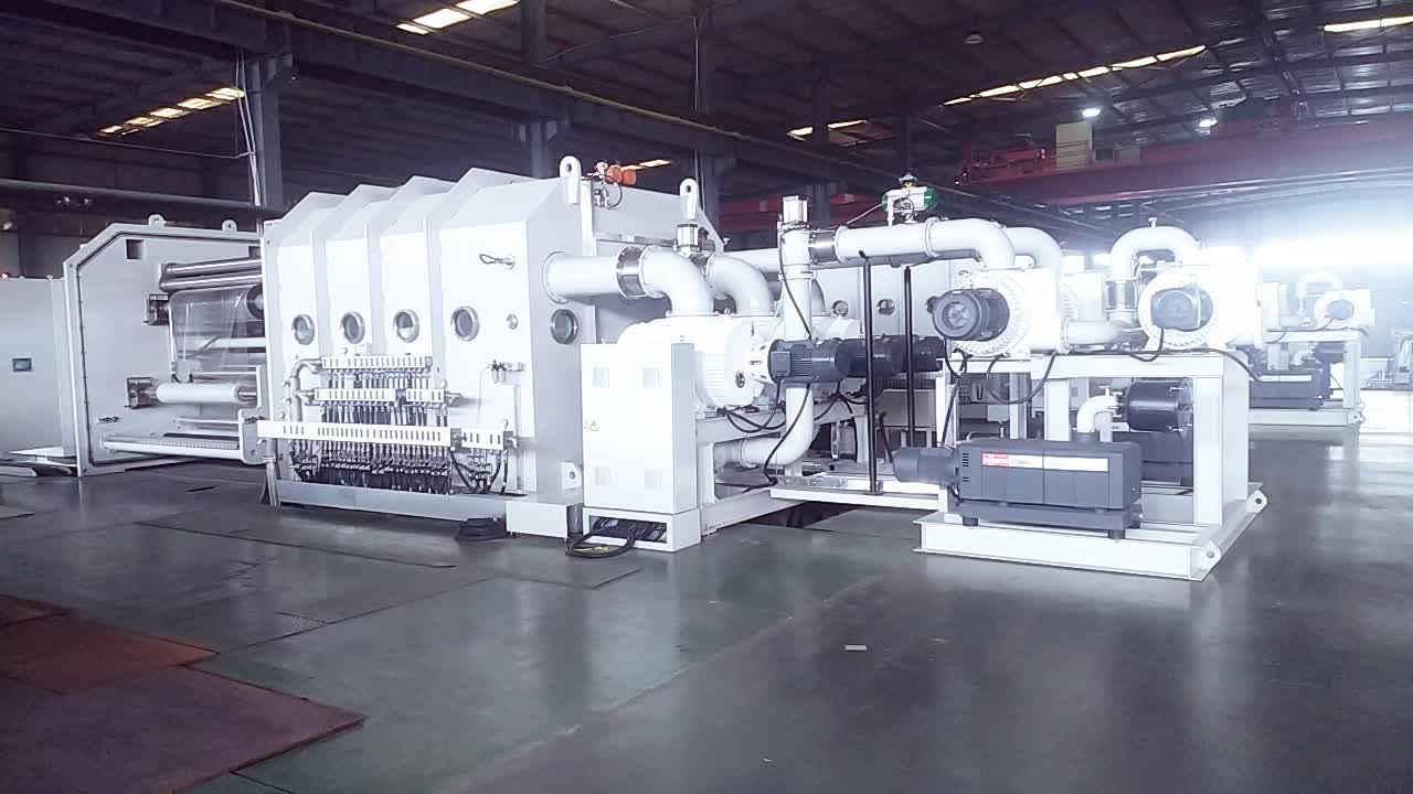 Yüksek Verimlilik Vakum Metallizer/Metalize Makinesi Esnek Ambalaj