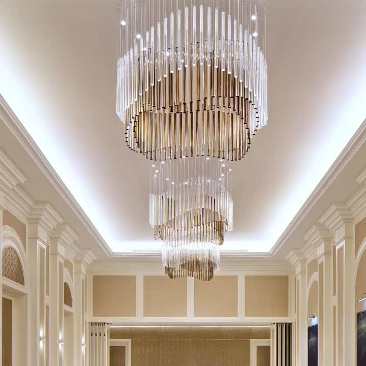 אישית מודרני מלון זכוכית נברשת תליון אור