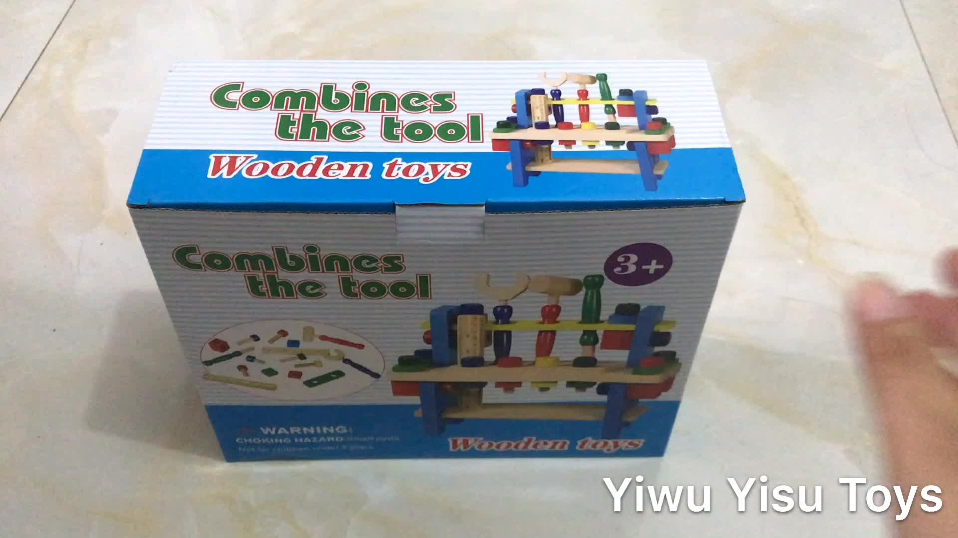 Hot Selling Products Wholesale YZ005 Wooden Toy Repair Tool Set Tool Kit for Kids Toy