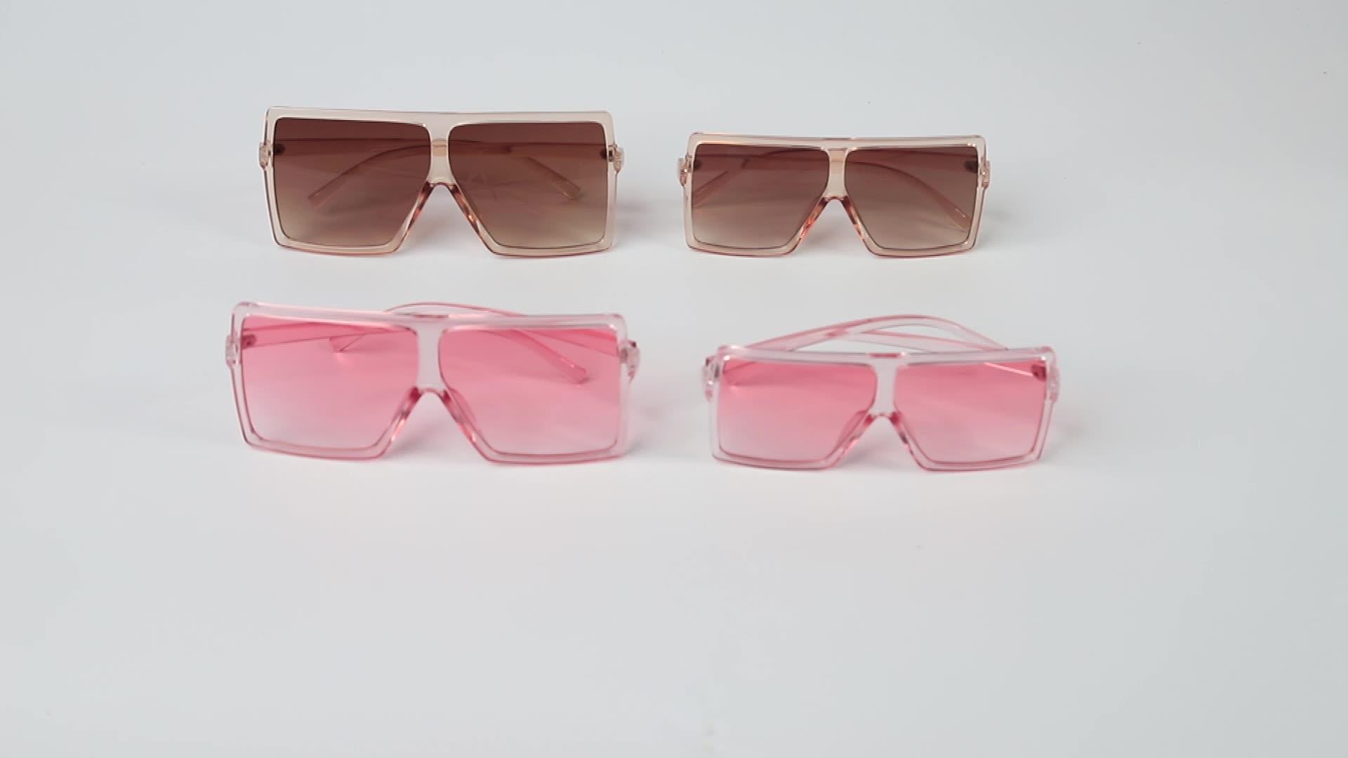 Kacamata Hitam Persegi untuk Anak, 1 Set 3 HIPPOS, Kacamata Hitam Plastik Bagian Atas Datar 2021 2 Buah Cocok untuk Anak Perempuan