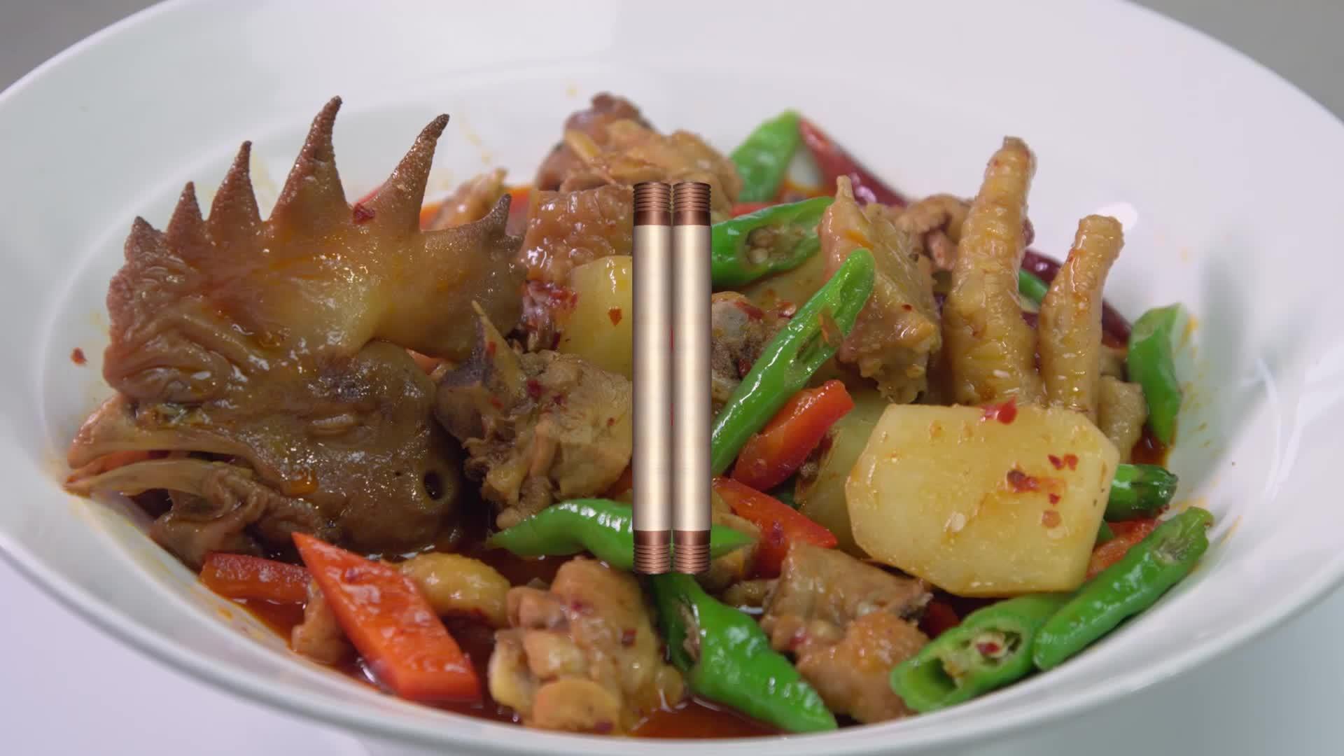 Liuliuhong HACCP ทำอาหารอาหาร Mild Spicy Chicken รสปรุงรส