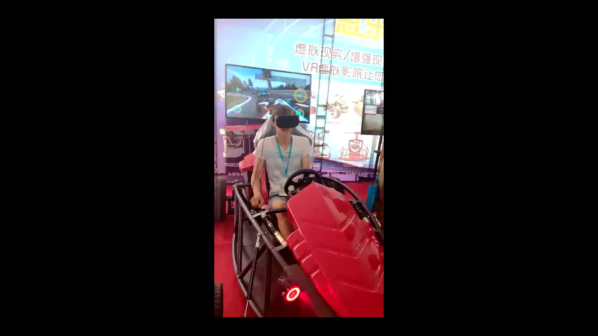 Máquina de jogo de simulador de VR vr dirigindo corrida simulador motion playseat f1
