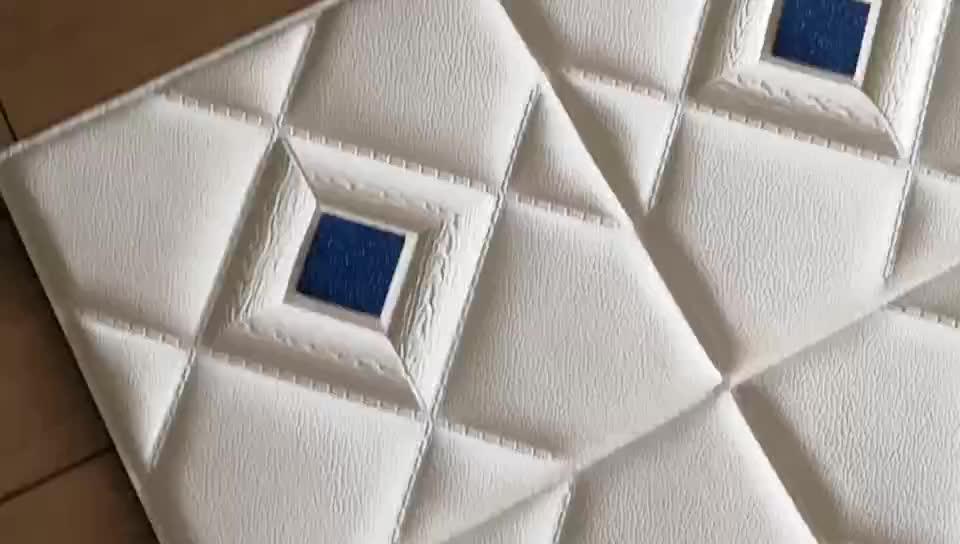 С мягким фоном арт 3D кожаные стеновые панели 3D текстура настенной плитки
