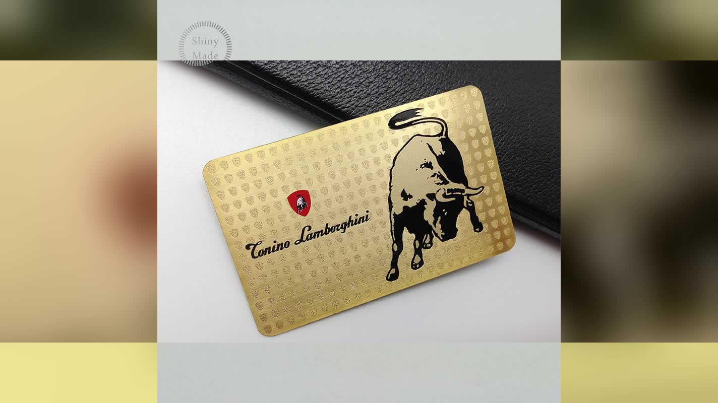 China products gold plated metal business visiting card