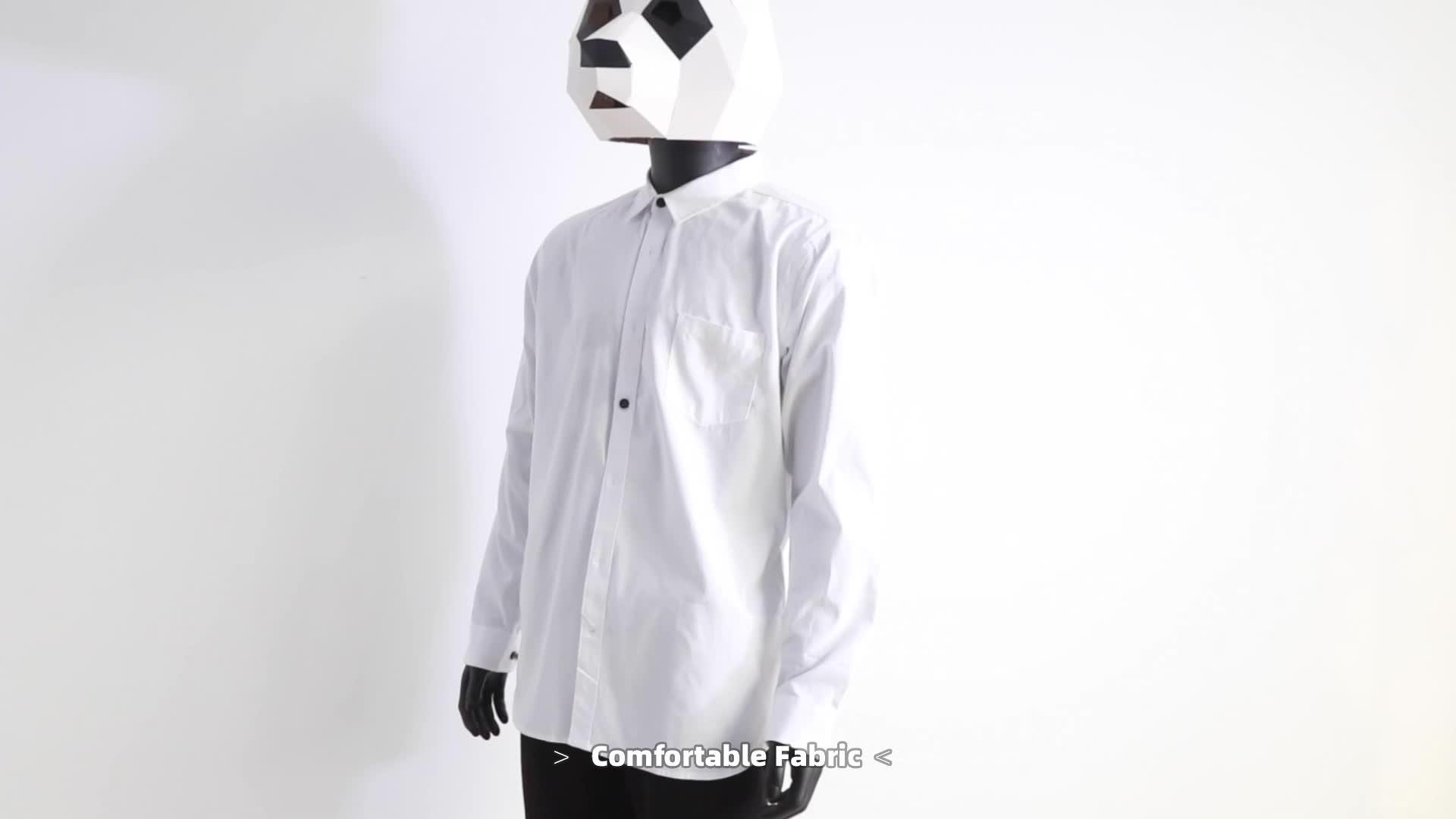 도매 Oem 100% 코튼 긴 소매 클래식 남자 정장 디자이너 드레스 작업 셔츠