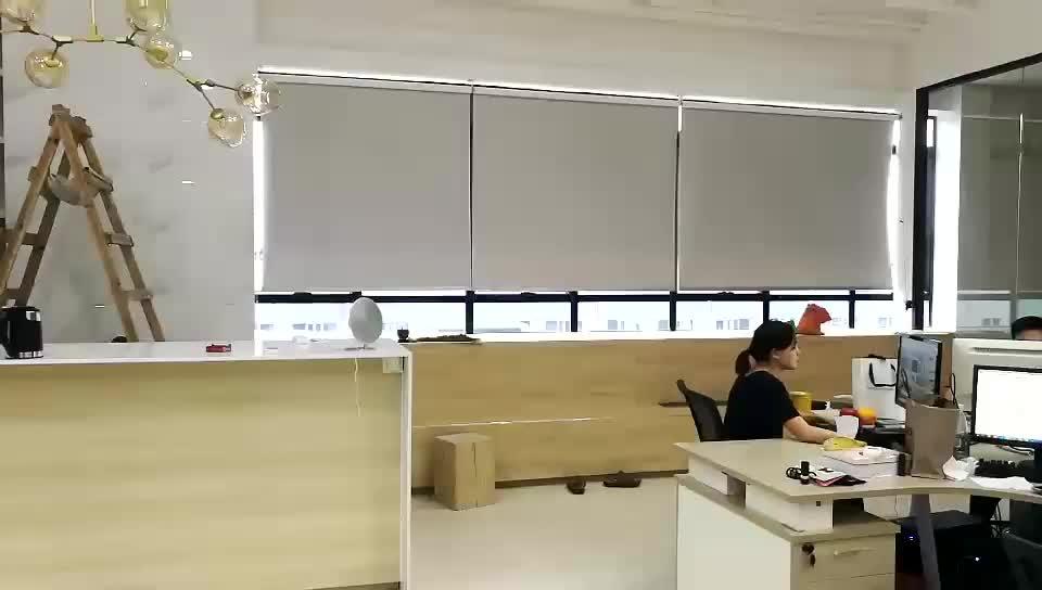 Finestra interna tende elettrico di controllo remoto automatico 100% blackout motorizzato Tende A Rullo per la casa