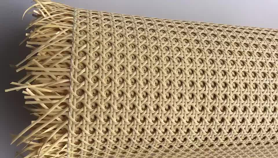 good quality cheap economic PE mesh rattan cane webbing wholesale