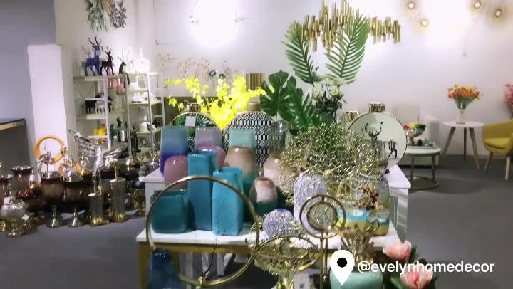 Creativa moderna cabeza humana nueva moda de flores para decoración interior de la casa, decoración de cerámica, florero