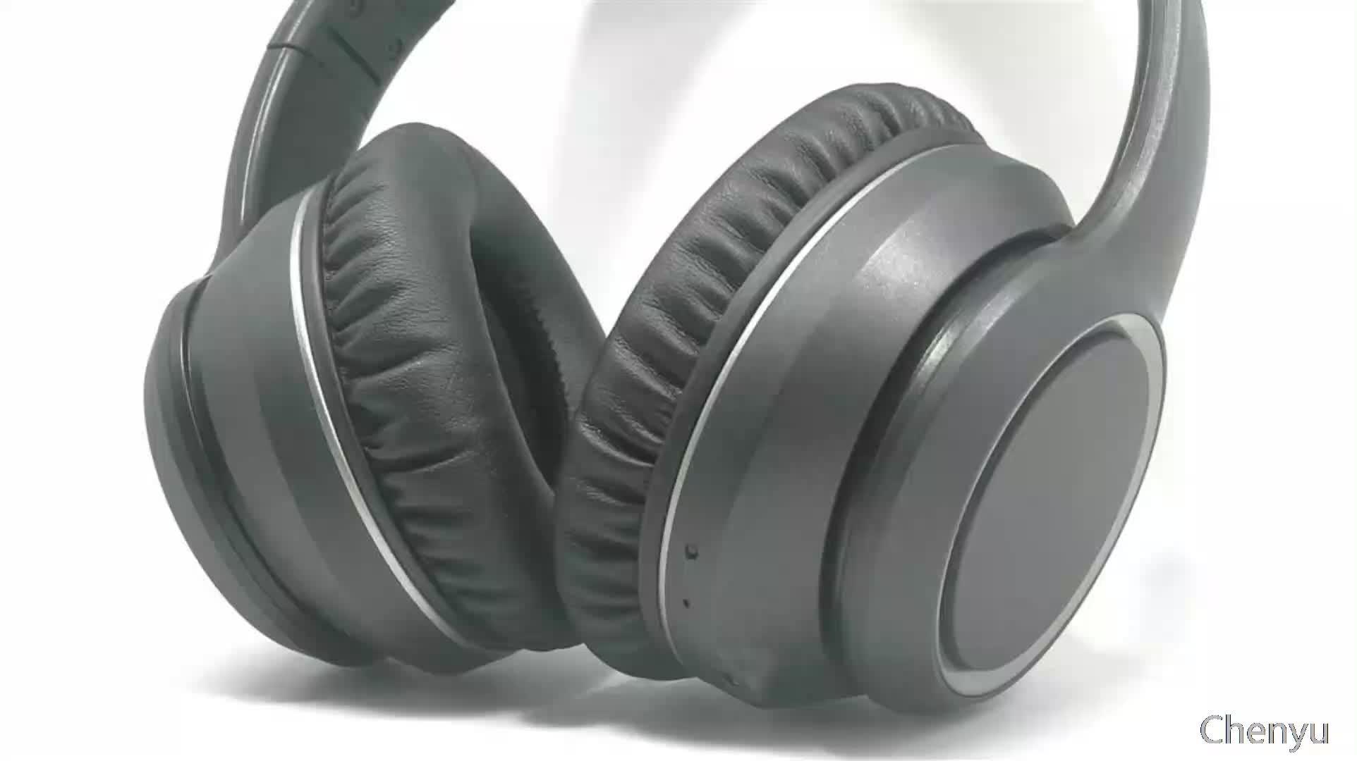 Wholesale OEM active noise cancelling headphone foldable headband true stereo blue tooth anc tws headphone