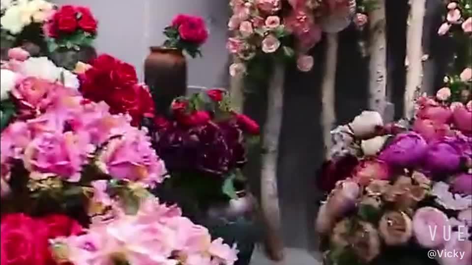 Wholesale Hydrangea Peony Silk Flowers Heads Artificial Wall Decoration Wedding
