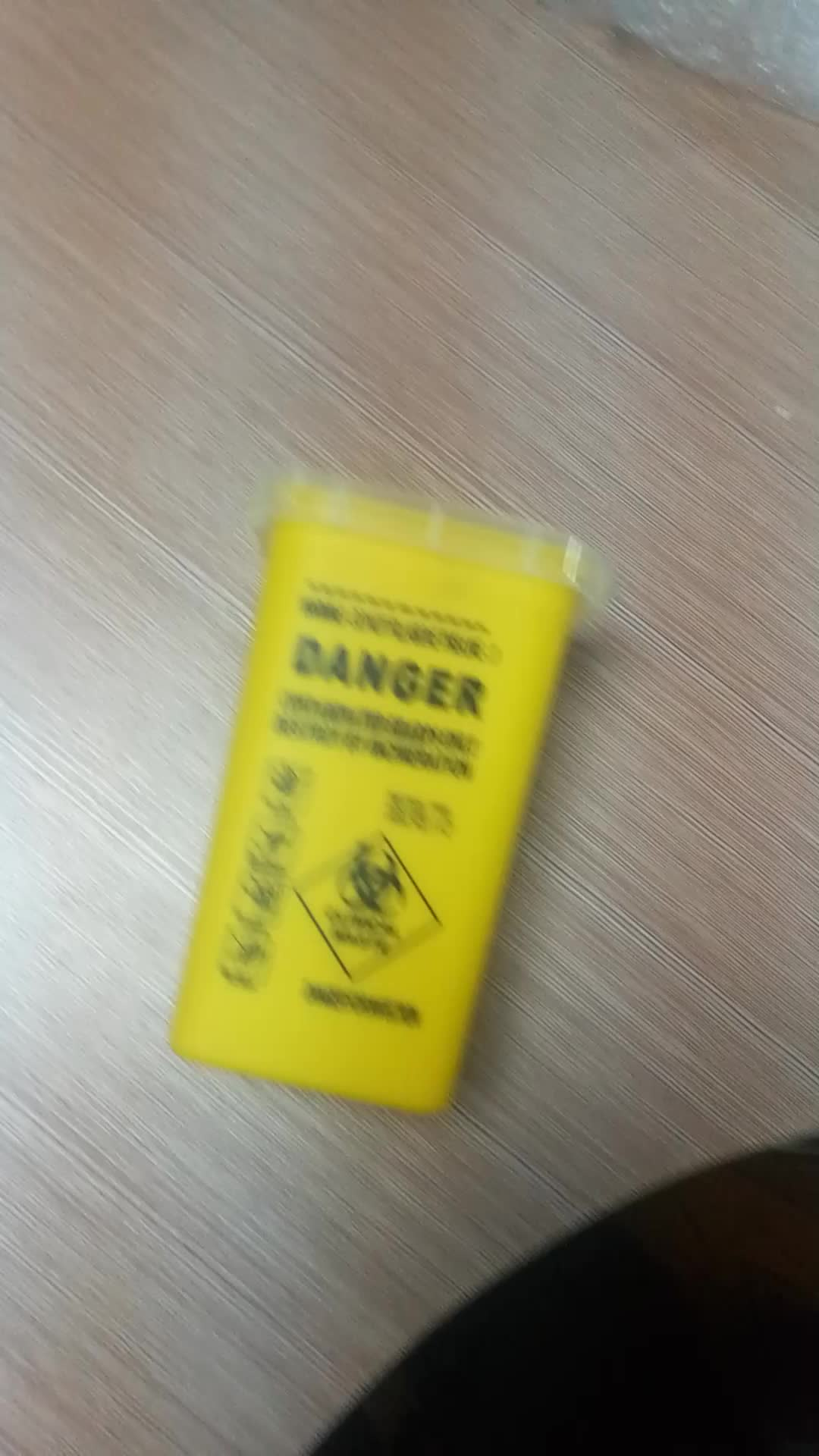 hangzhou rollmed disposal medical red yellow plastic waste sharp container