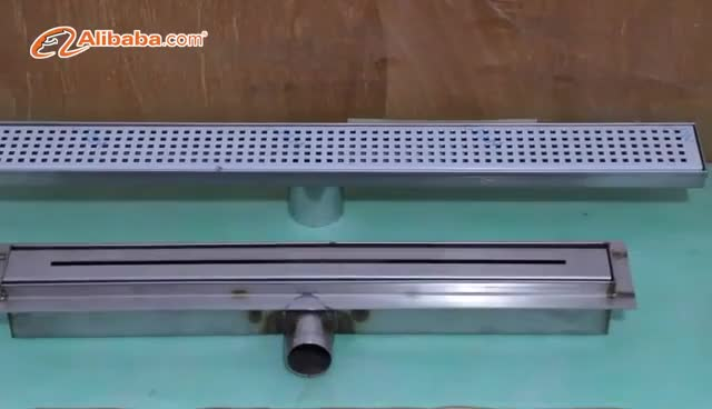 Stainless Steel 304 Long Floor Linear Drain for Bathroom,High Quality Brushed Finish Shower Drainer
