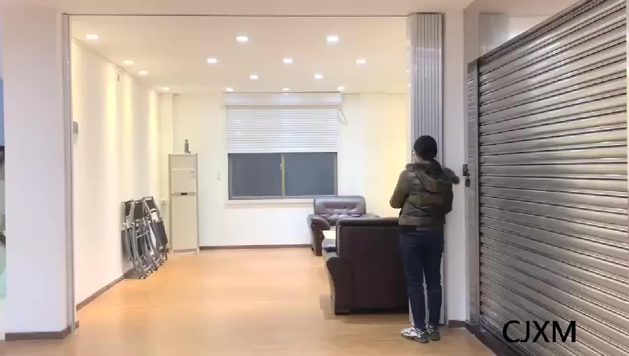 Trasparente Bella Apparenza In Policarbonato Orizzontale Porta Pieghevole
