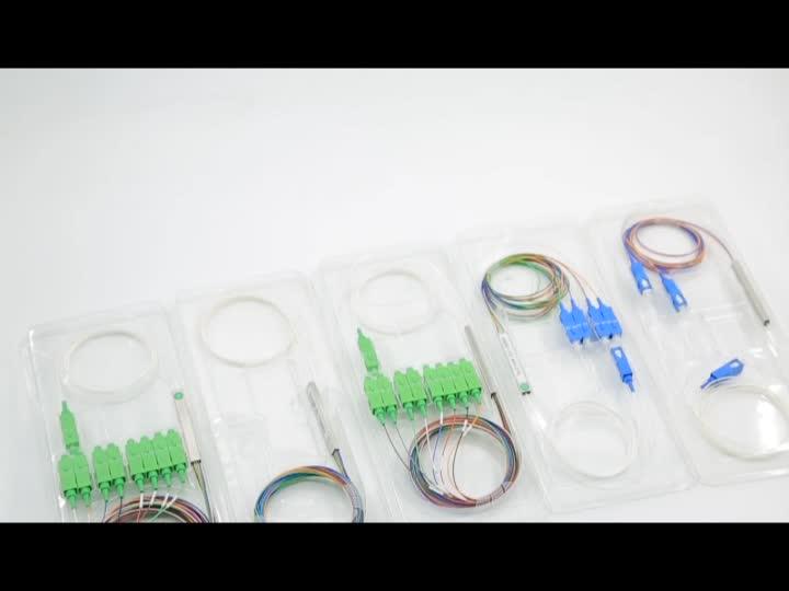 De equipos de red FTTH óptico mini 1x32x1x64 del divisor del tubo de acero de fibra de circulación PLC 1*64 divisor óptico