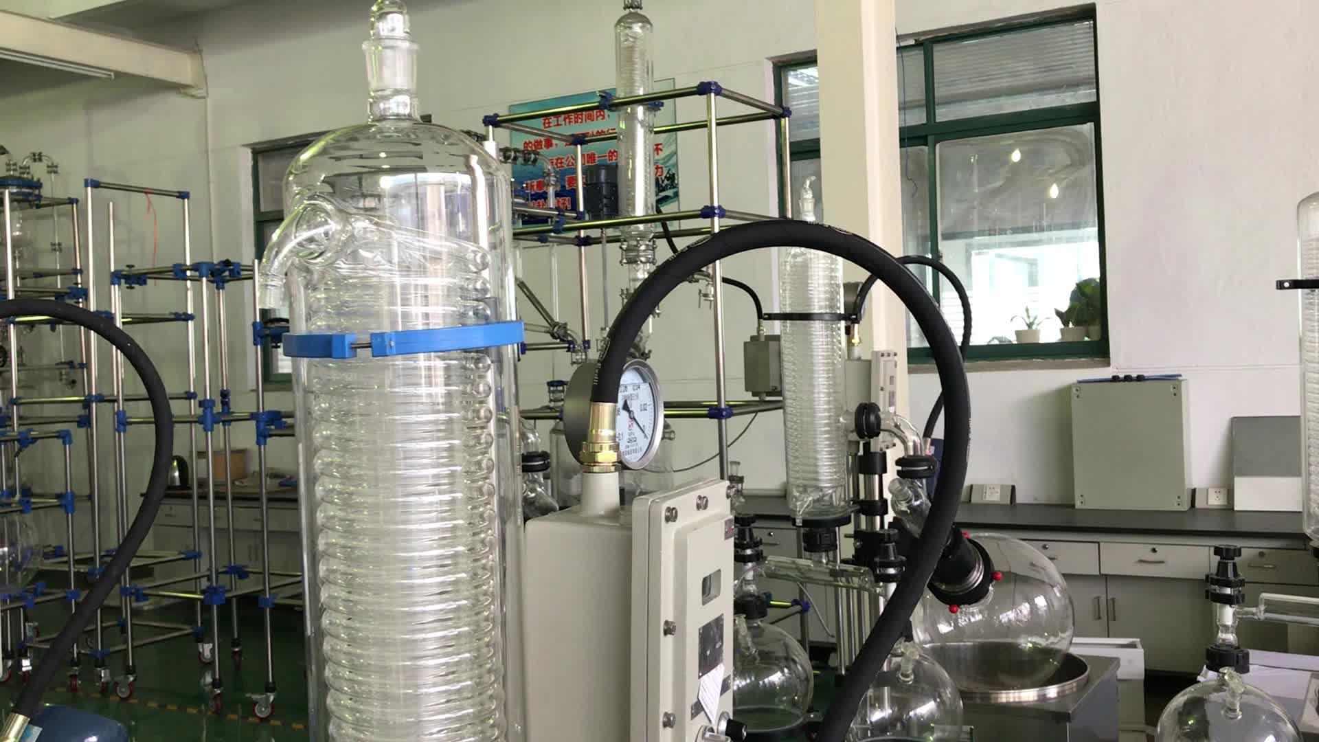 Melhor equipamento de destilação de vácuo preço barato rotary evaporador com coluna de retificação para extração de etanol