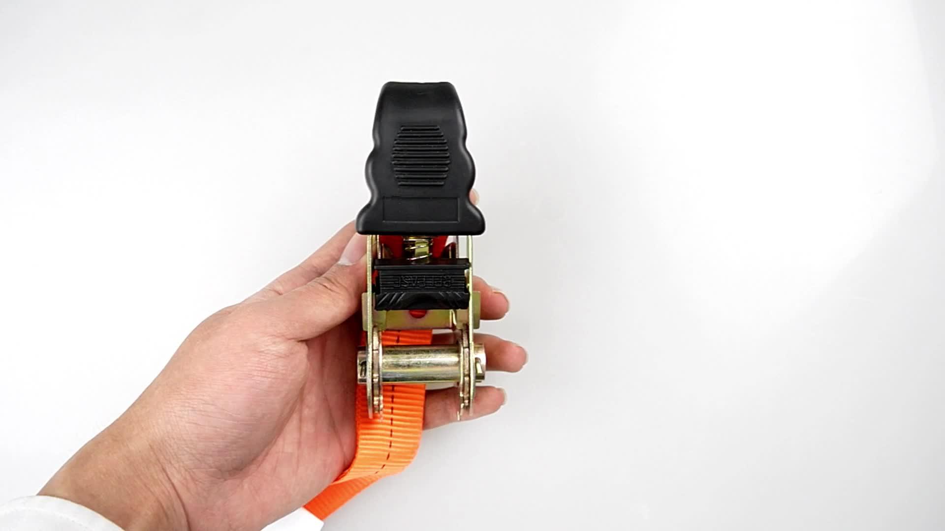 GS chứng nhận 25mm 1 inch nhựa xử lý ratchet căng dây đeo ratchet tie xuống