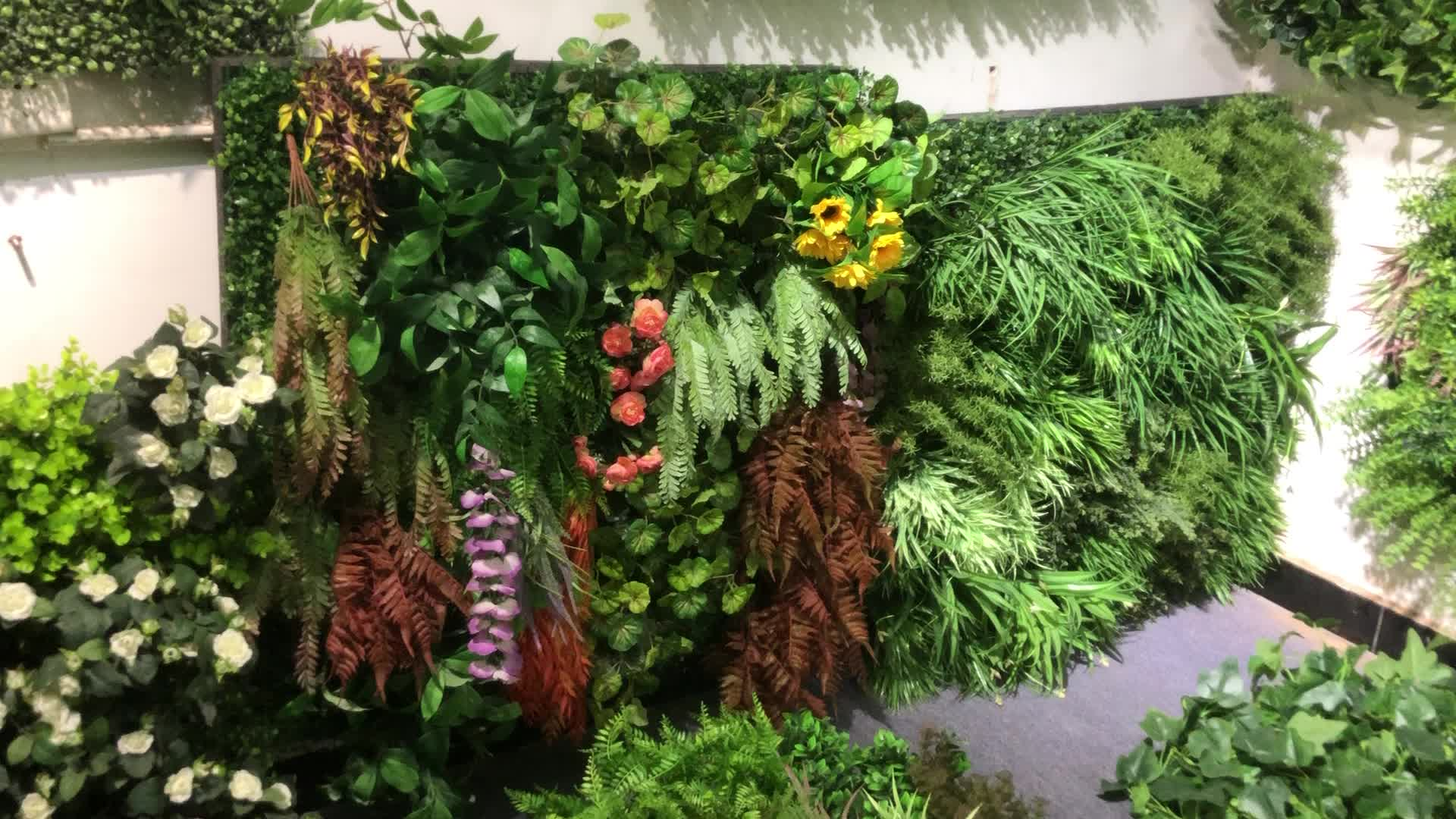 Atacado fábrica de plantas falsas simulado alta vertical de parede planta verde artificial