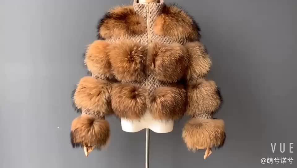 2019 New Winter Genuine Racoon Fur Coat for Women / Wholesale Custom Natural Raccoon Fur Coat /Ladies Real Fur Coat Women