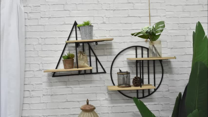 antique simple handcraft house design wood decorative wall shelves