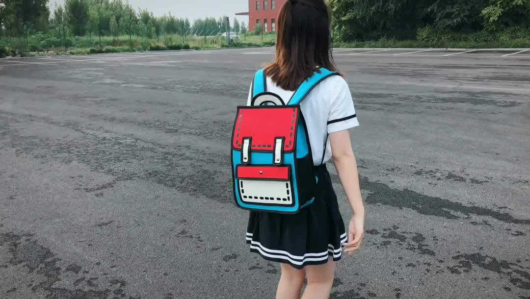 Fashion campus backpack new college bag cute girls backpack school bag