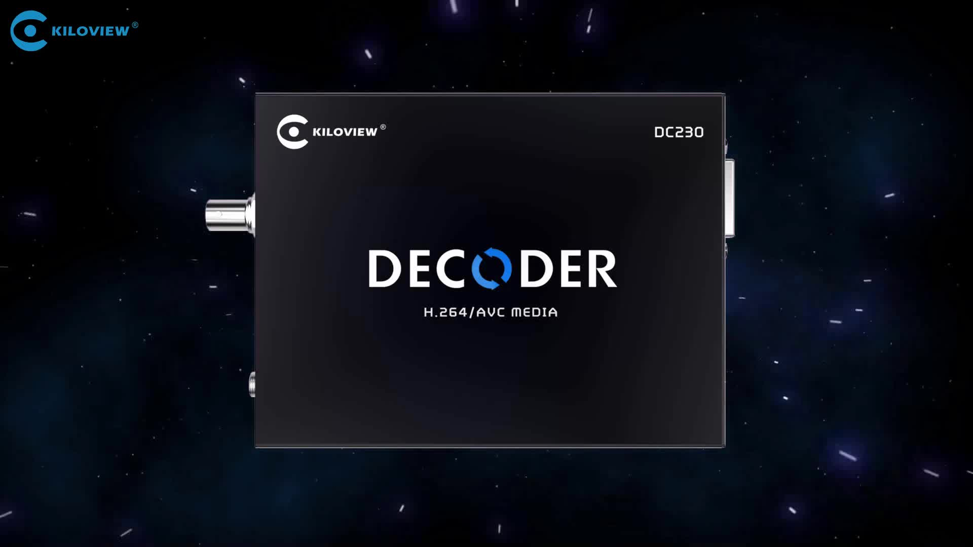 Kiloview H.264 HD Video Decoder, IP to SDI HDMI IPTV Video Decoder