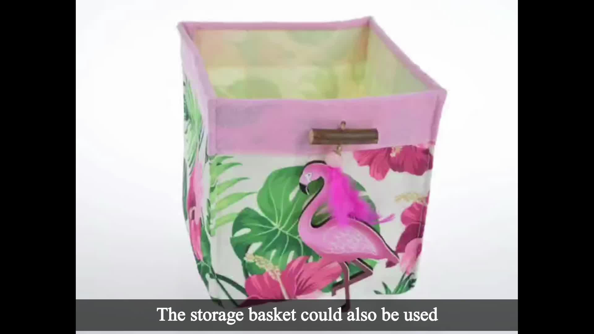 Prodotti unici mercato tessuto della decorazione della casa tropical Pink Flamingo regalo Dell'organizzatore di Immagazzinaggio Cestino
