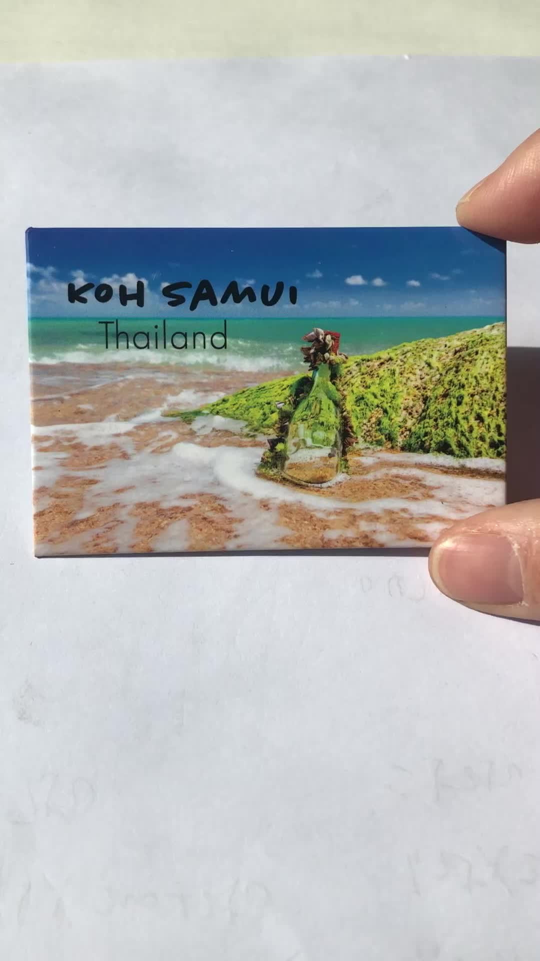 Wholesale souvenir tourist refrigerator tinplate magnet tin fridge magnet