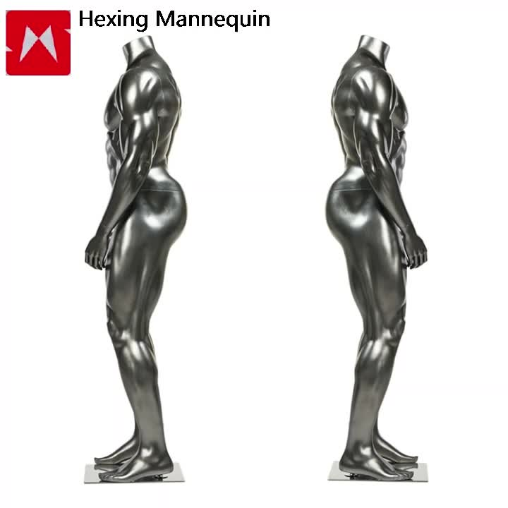In fibra di vetro Big Muscle Strong Pene Maschio Mannequin