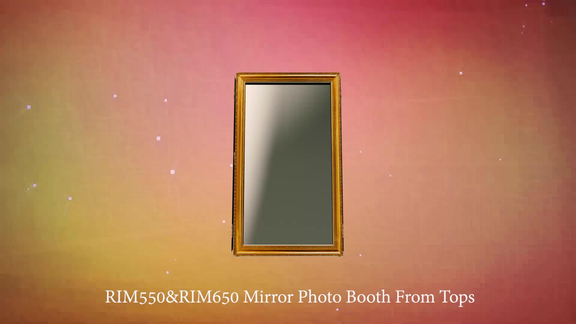 Miroir cabine photobooth machine rétro fête de mariage photo stand kiosque selfie station
