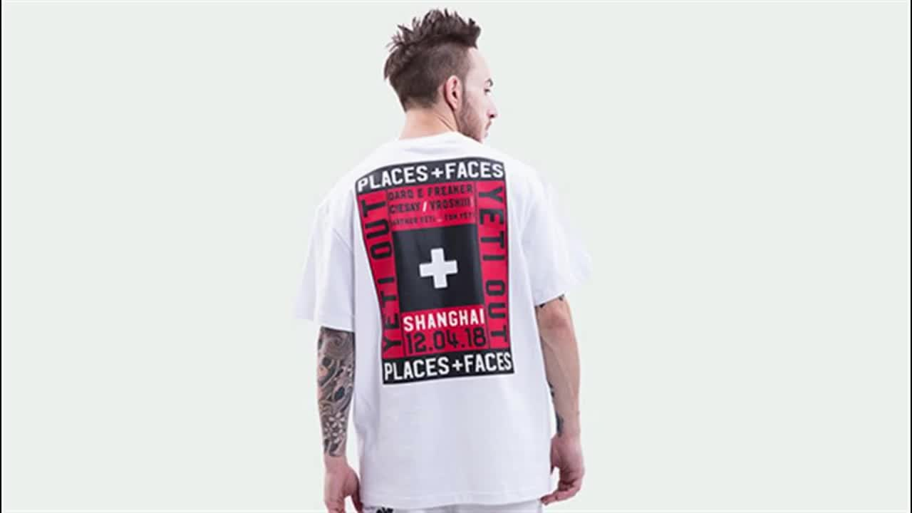 Fashion  new style casual sports clothes men blank printing t shirt
