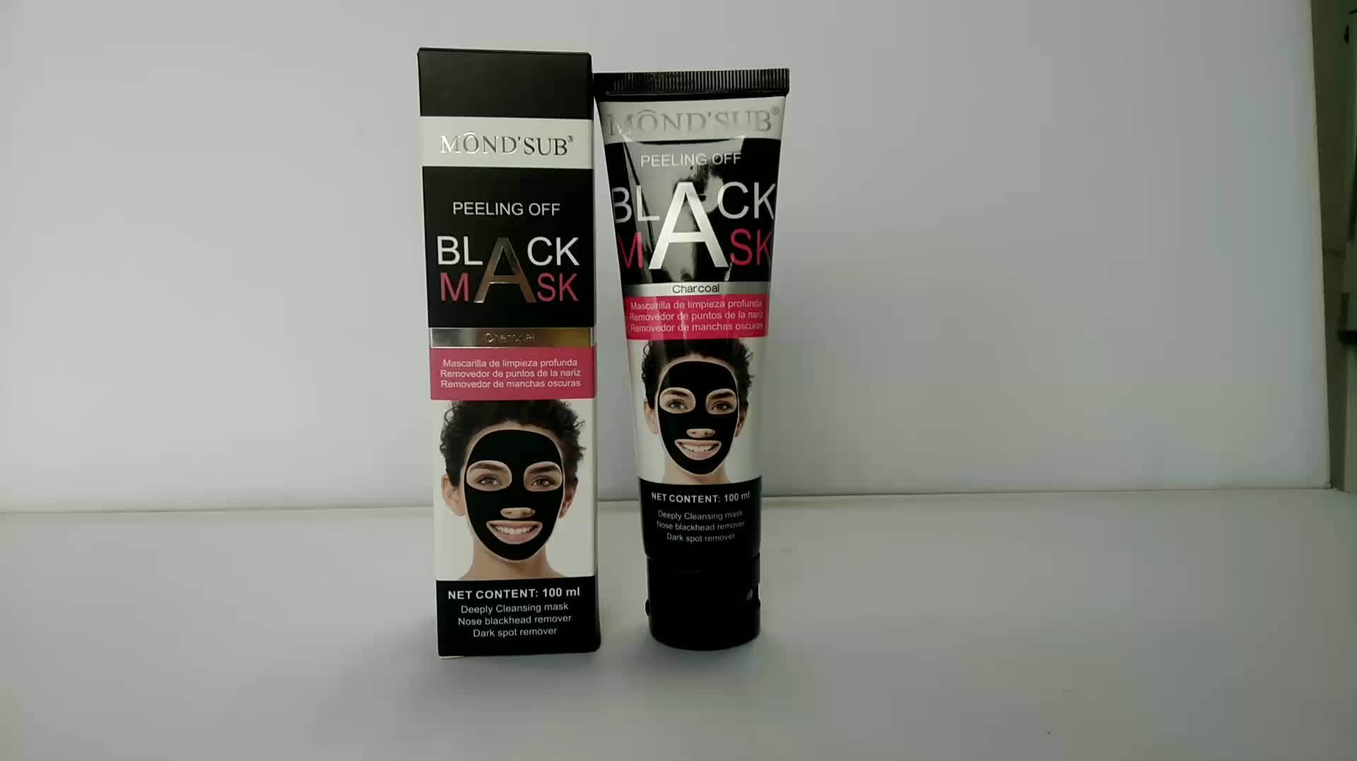 Activated Charcoal Remover Peel Off Suction Black Peel Off Face Long Lasting Blackhead Mask