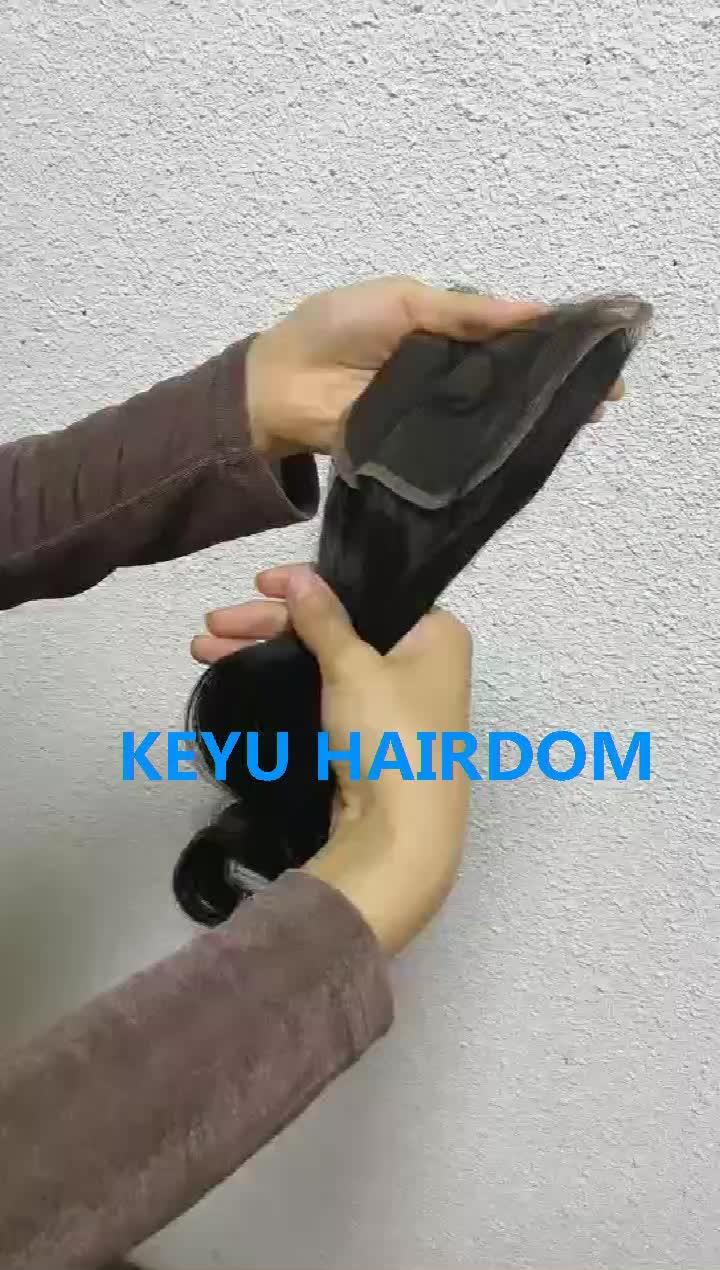 처녀 표피 정렬 100% 브라질 헤어 클로저 무료 부분 저렴한 인간의 머리카락 폐쇄 5x5 6x6 7x7 헤어 클로저 조각 1B