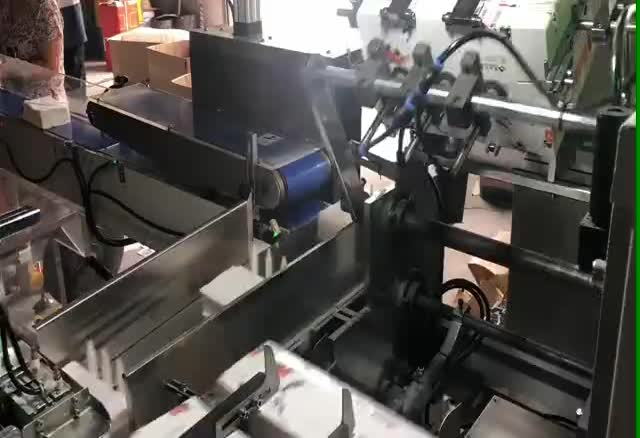 ST-600 Automatic Facial Tissue Box Handle Fixing Machine