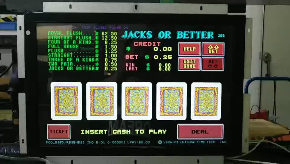 15 17 polegadas monitor de tela de toque do IR para a máquina de jogo do casino