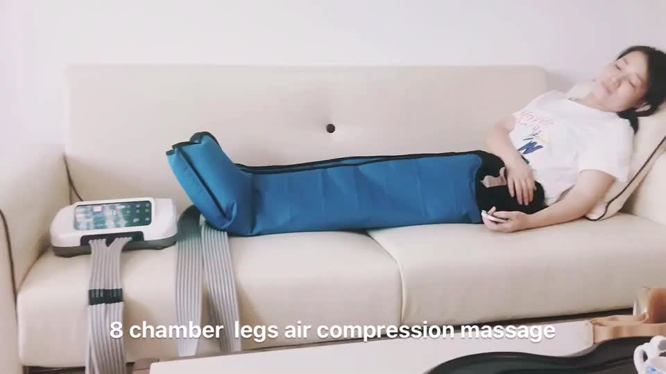 2019 new design 8 Chamber Air Compression Therapy System Electric Leg and Foot Massager VU-IPC06
