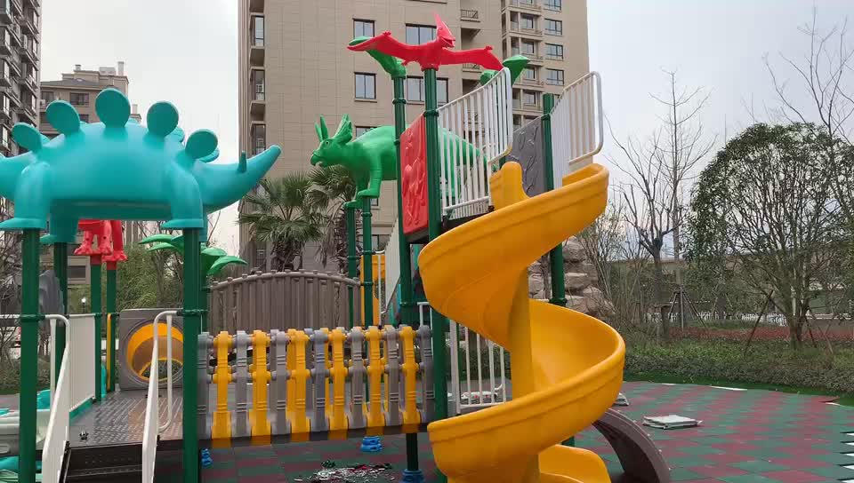 Factory Beautiful Kids Outdoor Plastic Extreme Fitness Playground large colorful playground