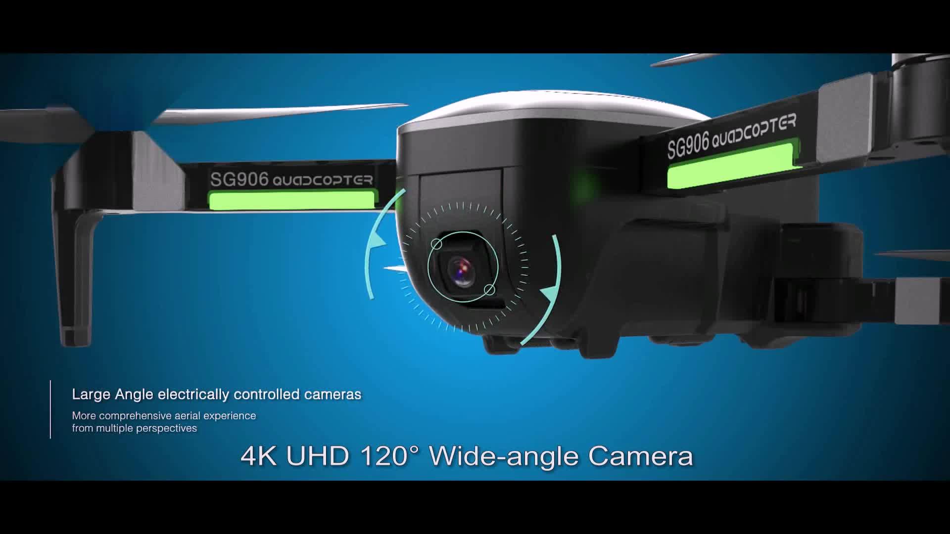 FREE SHIPPING dropship SG906 GPS 5G WiFI FPV brushless foldable rc selfie drone 4k camera