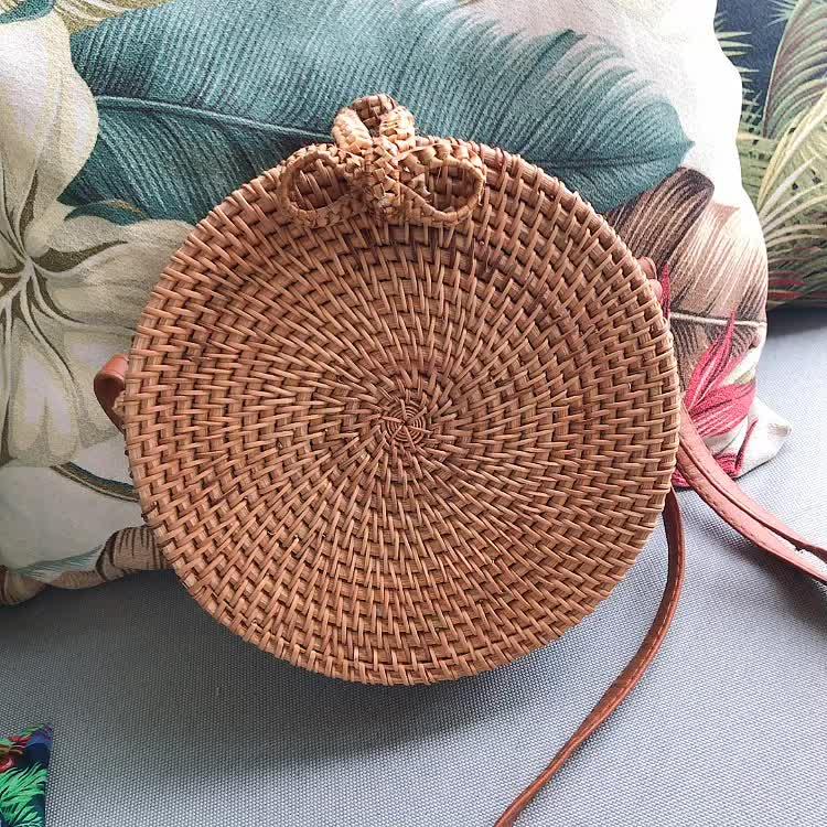 Rattan tasche heißer sommer gewebt rattan bali tasche für frauen Bali tasche handgemachte handwerk großhandel