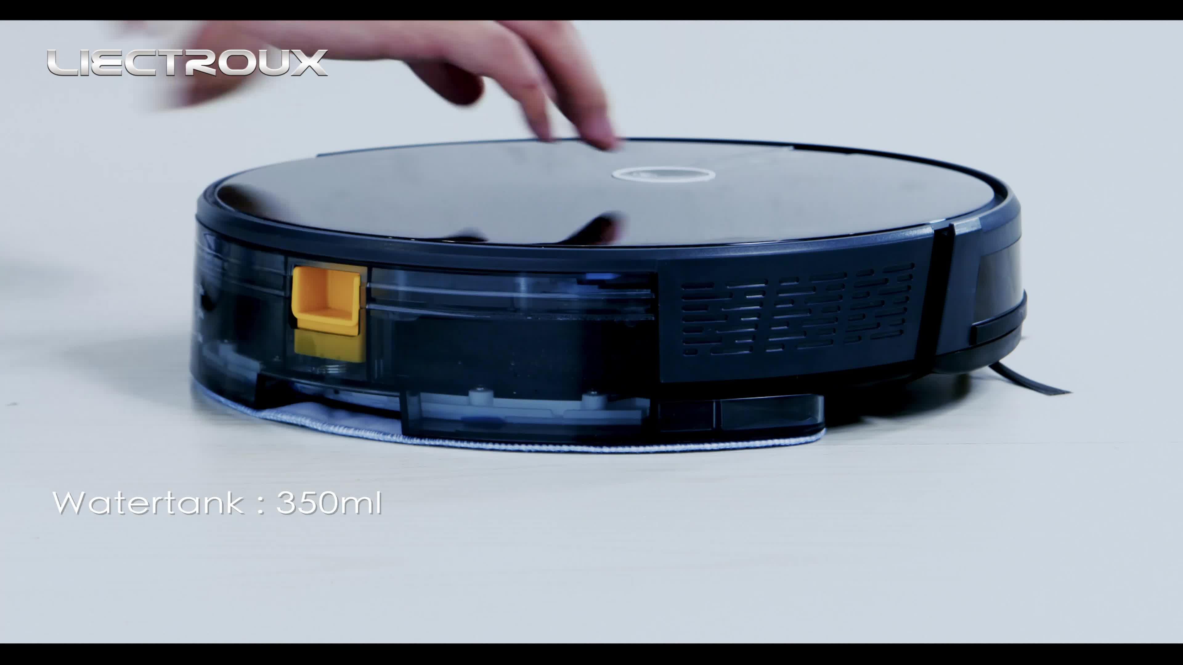 Robot Hút Bụi Liectroux C30b Với Bản Đồ Điều Hướng Hút Mạnh Bể Nước Điện Mỏng Và Thiết Kế Ánh Sáng Màn Hình