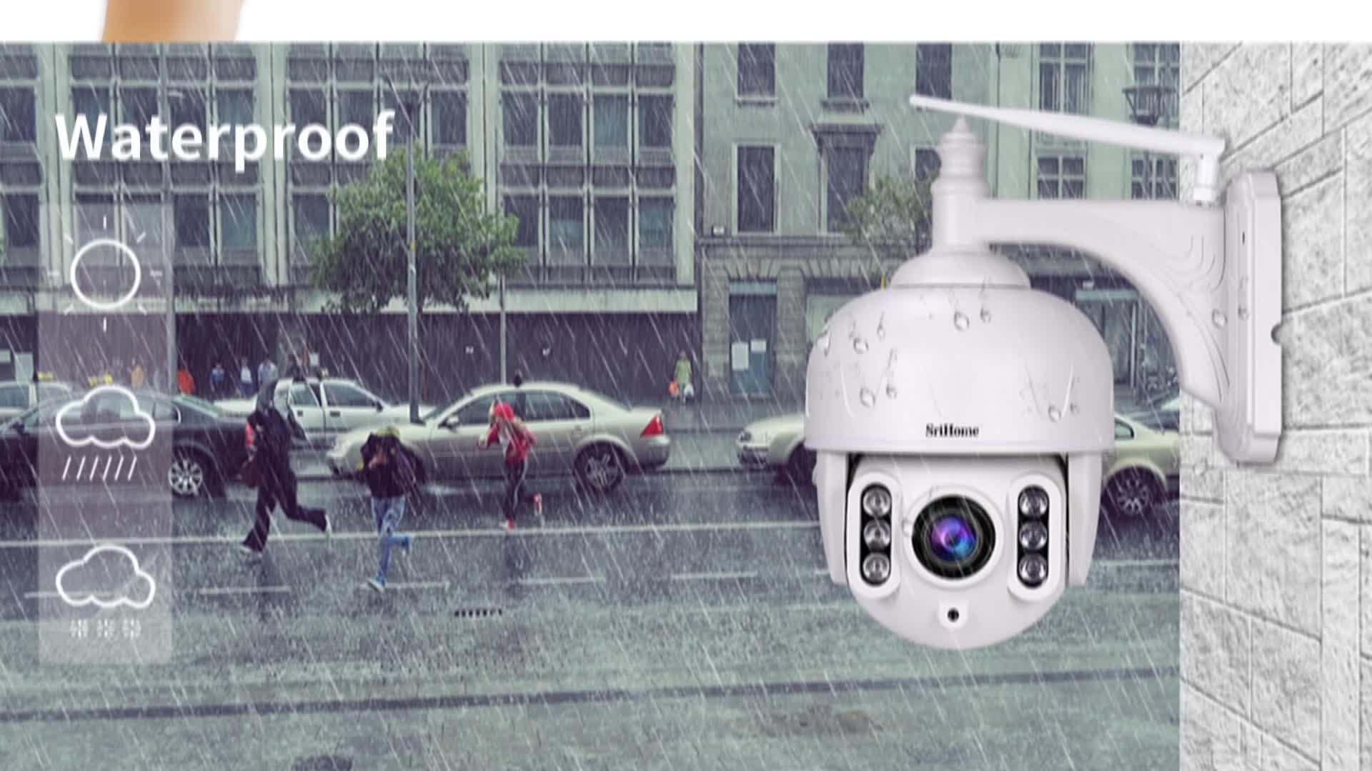 Sricam SH024 H.265 IP 캠 1080p Wifi Cctv 12v 미니 ip 마이크로 카메라 무선