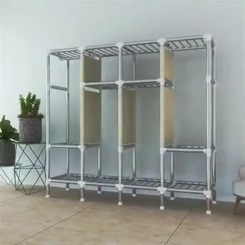 New Design of Rolling Clothes Organizer on Wheels with Hooks for Hanging Handbags.