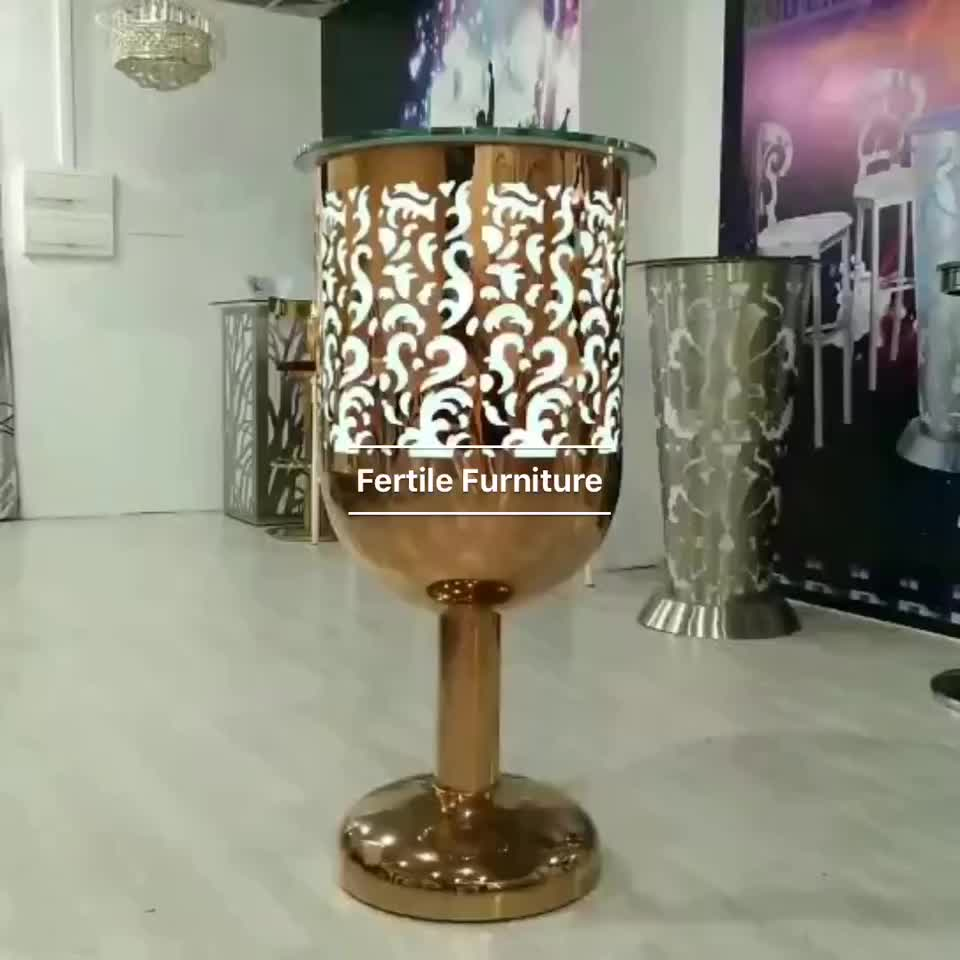Reasonable Price Furniture: Reasonable Price Led Light High Bar Cocktail Table For