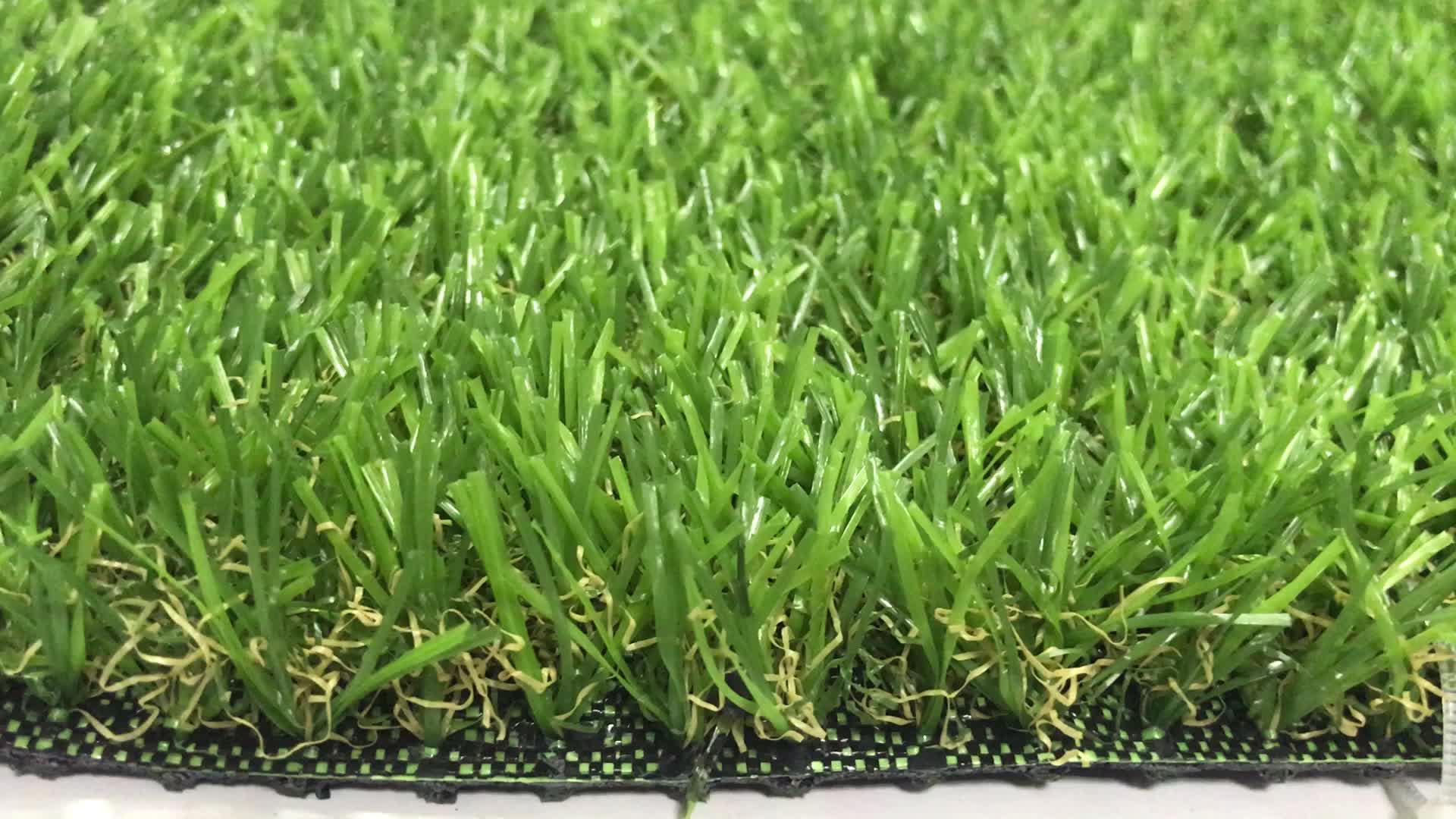 LW06 רך C צורת דשא 35mm חיצוני דשא מלאכותי שטיח עבור גן משחקים